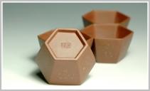 史金妹紫砂壶 精品六方点砂杯子 一套六六大顺 原矿底槽清 - 美壶网