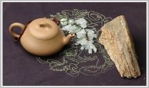 曲峰紫砂壶 矮石瓢 芝麻段 - 美壶网