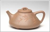 王余平紫砂壶 霸气的全手子冶石瓢1 原矿段泥 - 美壶网