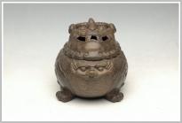 美壶定制紫砂壶 雄狮香炉 古铜泥 - 美壶网