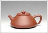曲峰紫砂壶 传统耐品之全手石瓢 原矿清水泥 - 美壶网