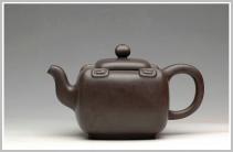 谢曼伦紫砂壶 合璧如意  2006年被中南海紫光阁收藏 原矿黑泥 - 美壶网