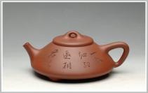 王孝新紫砂壶 流行派  可爱又不失瓢骨 扁石瓢 原矿清水泥 - 美壶网