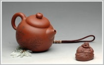 李彦雄紫砂壶 饱满敦厚 刻绘精致 全手优质降坡泥文旦 原矿降坡泥 - 美壶网
