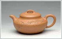袁新强紫砂壶 舒展儒雅 国助工和石装饰 全手段泥合欢 原矿段泥 - 美壶网