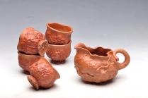 刘景紫砂壶 刘景降坡泥新公道杯子6件套 原矿降坡泥 - 美壶网