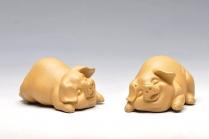刘景紫砂壶 小喜猪 福猪 壬辰年新品 优质段泥 不一般的甜蜜 原矿段泥 - 美壶网
