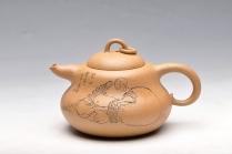 王余平紫砂壶 优质段泥 漂亮优雅 矮葫芦 笑口常开 原矿段泥 - 美壶网