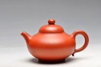 曲峰紫砂壶 红袍朱泥  华颖 实用精品 原矿朱泥 - 美壶网