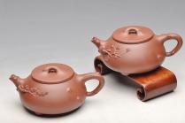 单志萍紫砂壶 道法自然 实用花器 梅、松石瓢 原矿底槽清 - 美壶网