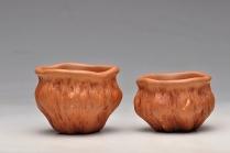 刘景紫砂壶 红段泥 莲蓬杯 最新 原矿降坡泥 - 美壶网