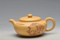 朱牧清紫砂壶 淡雅得趣 实用佳品 鼓韵 原矿段泥 - 美壶网
