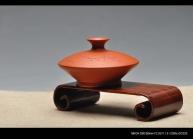 美壶定制紫砂壶 花插瓶 朱泥 文雅赏玩 国助和石装饰 原矿朱泥 - 美壶网