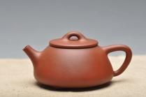 曲峰紫砂壶 质朴简单 素雅典范 平盖石瓢 原矿底槽清 - 美壶网