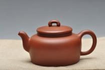 周路健紫砂壶 精致典雅   全手如意平盖 红皮龙 - 美壶网