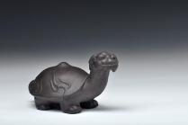 王健紫砂壶 长寿王者 送礼自用好玩茶宠 龟龙 原矿黑泥 - 美壶网