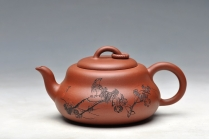 朱牧清紫砂壶 造型简洁明快 线条流畅 极品老清水 葫芦 原矿清水泥 - 美壶网