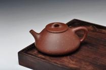 曲峰紫砂壶 精品代表作 最新力作 全手铺砂大子冶石瓢 原矿紫泥 - 美壶网
