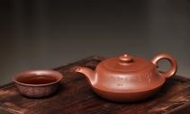 刘世涛紫砂壶 线条流畅优美 造型新颖  清韵  原矿清水泥 - 美壶网