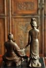 王健紫砂壶 爱情和事业的传奇  范蠡西施    王健精品新作 最称职的'财神' 原矿紫泥 - 美壶网