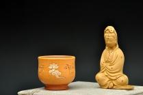 石丁紫砂壶 石丁最新作品  敦煌杯 藏语'平安吉祥' 端庄富贵 原矿降坡泥 - 美壶网