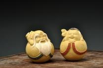 美壶定制紫砂壶 寿公寿婆一对 ~Q的茶宠 原矿段泥 - 美壶网