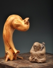 美壶定制紫砂壶 全手雕塑 精品茶宠 龙杖罗汉 原矿段泥 - 美壶网
