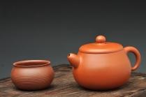 潘小东紫砂壶 潘小东最近全手作品 艺术和实用的结合 朱泥梵露珠  原矿朱泥 - 美壶网