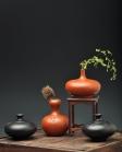 刘世涛紫砂壶 文房雅玩之小花瓶 造型可爱新颖~ 均是单个~ 原矿朱泥 - 美壶网