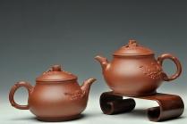 单志萍紫砂壶 传统实用 寓意吉祥 松梅常青之潘韵 原矿清水泥 - 美壶网