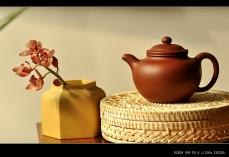 紫砂壶图片:极易泡养红皮龙 全手红莲 清秀婉约 进步明显 - 全手工紫砂壶网