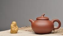 庄伟平紫砂壶 饱满精神  经典之作  相扑 原矿清水泥 - 美壶网