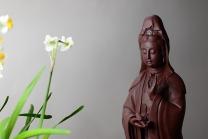 美壶定制紫砂壶 精品雕塑 观音 神态细腻 原矿清水泥 - 美壶网