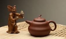 紫砂壶图片: 曼生十八式之全手一捺底葫芦 优质底槽青 经典代表作 - 全手工紫砂壶网