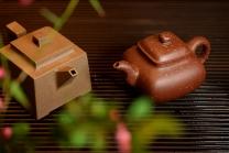 史金妹紫砂壶 醉美巧克力o(∩_∩)o  方圆之美 全手铺砂传炉 原矿底槽清 - 美壶网