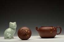 潘丹初紫砂壶 潘丹初最新全手作品 精品小花货 迎春 秀雅小巧 原矿底槽清 - 美壶网