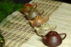 紫砂壶图片:全手文气五彩石瓢 - 全手工紫砂壶网