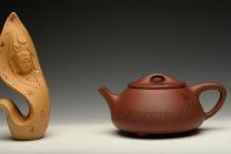 陆轶舟紫砂壶 优质青水泥 传统实用 文气装饰 中石瓢 原矿清水泥 - 美壶网