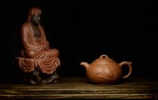 紫砂壶图片:小东原创作品 装饰独特 全手般若*佛风 嵌盖  - 美壶网