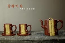 紫砂壶图片:单志萍甲午力作全手套壶 青梅竹马 情趣纵生 三色文气 - 美壶网