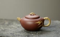 紫砂壶图片:单志萍实用花器  优雅之作  竹趣 - 美壶网