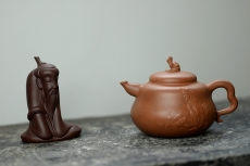 紫砂壶图片:潘小东原创 真 善 美 原矿老段泥 全手济公葫芦  - 美壶网