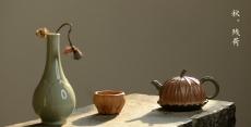 紫砂壶图片:文气十足 意境深远 秋日残荷 孙伟强张新亚合作 - 美壶网