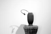 陆轶舟紫砂壶 张秋平制作 陆轶舟装饰 全手四方花樽 文气作品~ 原矿清水泥 - 美壶网