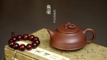 钱建荷紫砂壶 做工精致 年年有余 设计新颖~ 鱼乐壶 原矿底槽清 - 美壶网