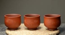 紫砂壶图片:曲峰佛陀杯 以底槽清打底粉降坡泥 精致实用  - 美壶网