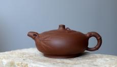 紫砂壶图片:稳中求骨 居不可无竹之素竹 - 美壶网