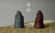 范泉明紫砂壶 精品茶宠 手把件 精致  守禅 原矿紫泥 - 美壶网