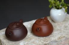 紫砂壶图片:美壶特惠之石瓢对壶 传统实用 紫砂入门必选 - 美壶网