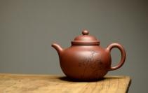 朱牧清紫砂壶 大气饱满 优质清水 传统掇球 茶聚实用 原矿清水泥 - 美壶网